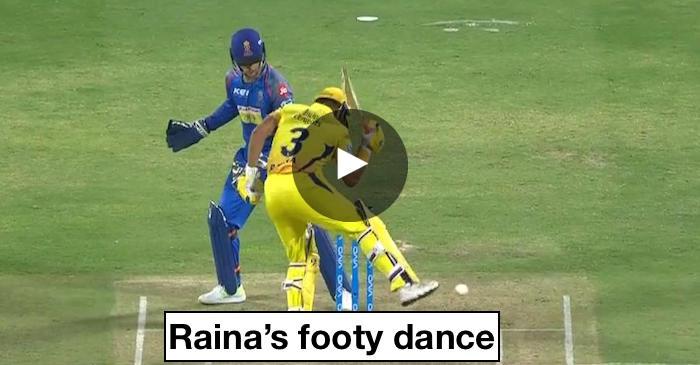 WATCH: Suresh Raina's footy dance to save his wicket