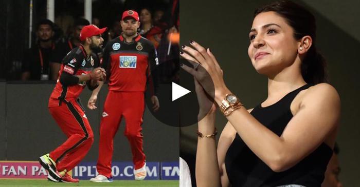 VIDEO: Virat Kohli's catch leaves Anushka Sharma smiling