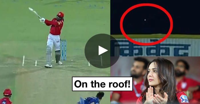 WATCH: Chris Gayle smashes Mitchell McClenaghan onto the roof of Holkar Stadium