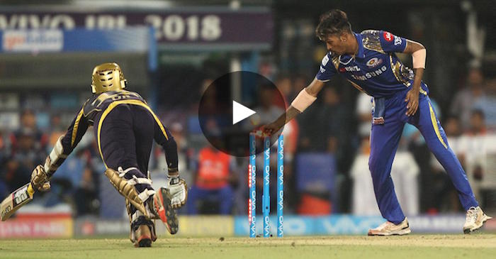 WATCH: Dinesh Karthik's controversial run-out by Hardik Pandya
