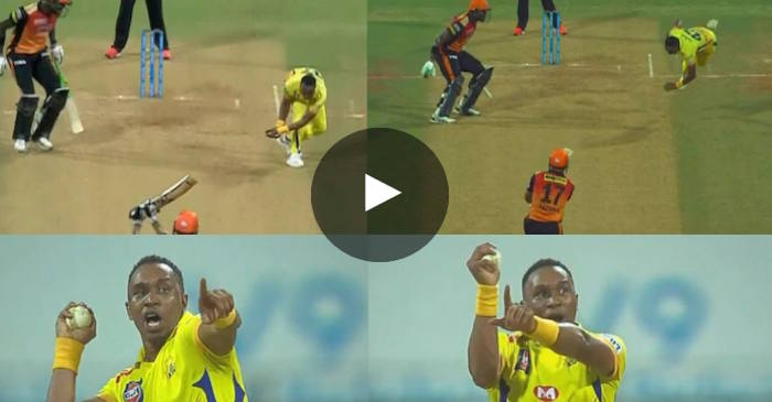 WATCH: Dwayne Bravo takes unbelievable return catch to dismiss Yusuf Pathan, celebrates in style