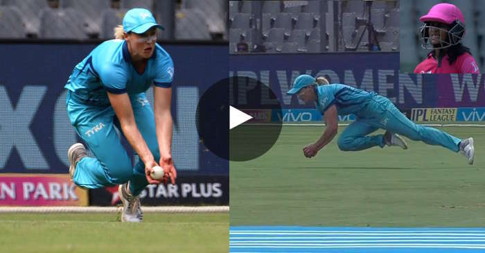 WATCH: Ellyse perry takes a stunning catch to send back Jemimah Rodrigues