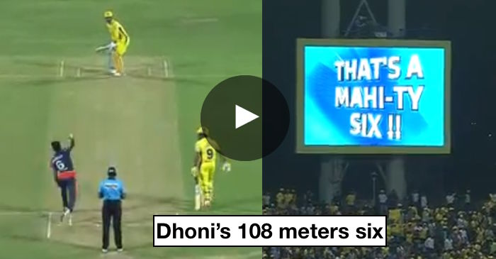 VIDEO: MS Dhoni smashes second-longest six of this IPL season
