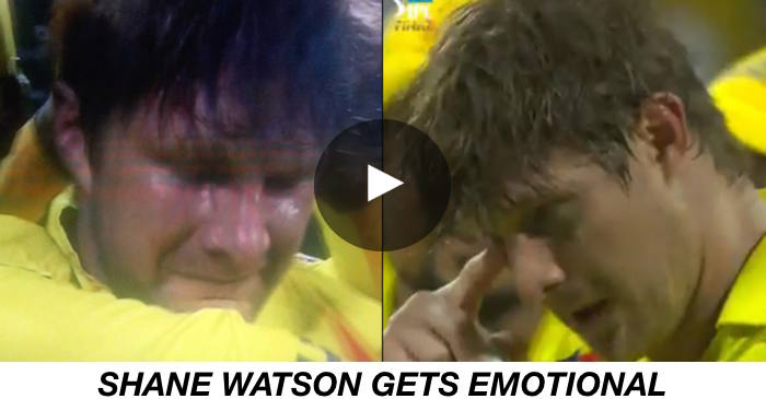 WATCH: Shane Watson gets teary-eyed after leading Chennai Super Kings to IPL 2018 title