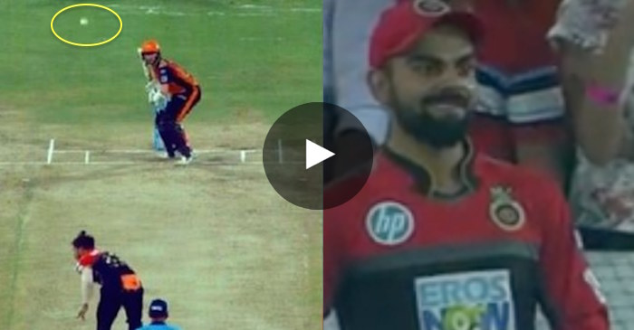 WATCH: Virat Kohli reacts hilariously after Umesh Yadav delivers a 'comic ball'