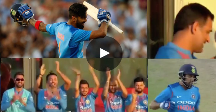 WATCH: MS Dhoni's priceless reaction as KL Rahul completes his second T20I ton