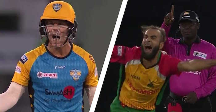 WATCH: David Warner left stunned after umpire makes a blunder in CPL 2018