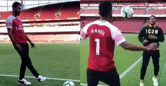 Arsenal fan KL Rahul visits Emirates stadium with Umesh Yadav, flaunts his football skills