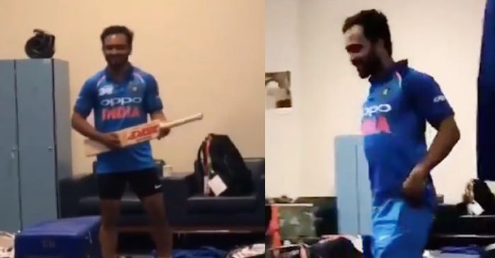 WATCH: Kedar Jadhav shows off his dance skills after India's thumping win against Pakistan