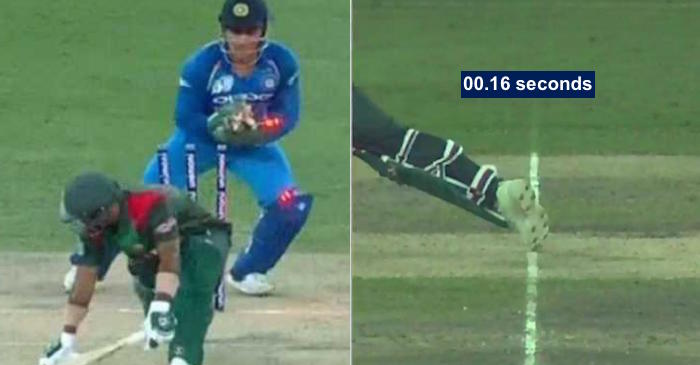 WATCH: MS Dhoni's lightning quick stumping to send back Liton Das