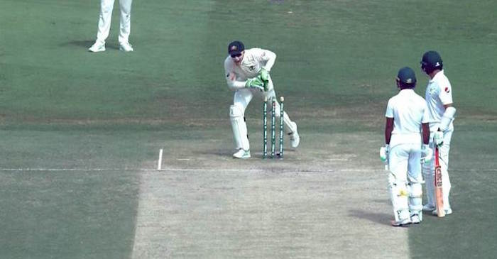 Azhar Ali run-out Tim Paine, Mitchell Starc