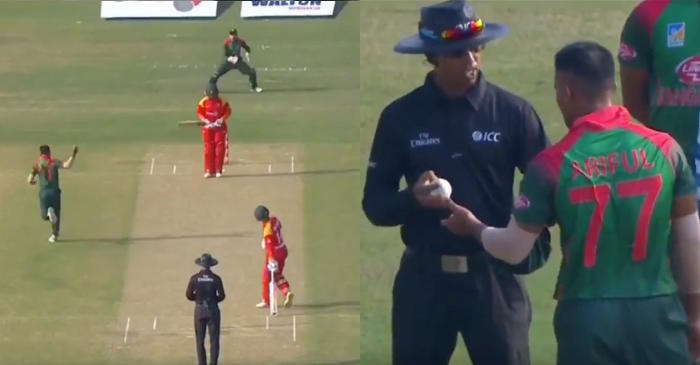 WATCH: Eccentric scenes on the field as Bangladesh players appeal for obstructing the field against Brendan Taylor