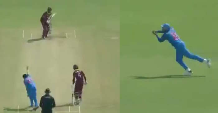 WATCH: Rohit Sharma takes a sharp catch at first slip to dismiss Kieron Powell