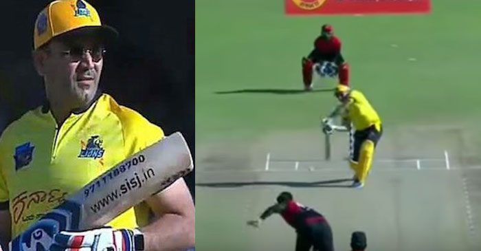 WATCH: Virender Sehwag smashes opposition bowlers out of the park in a 10-over tournament