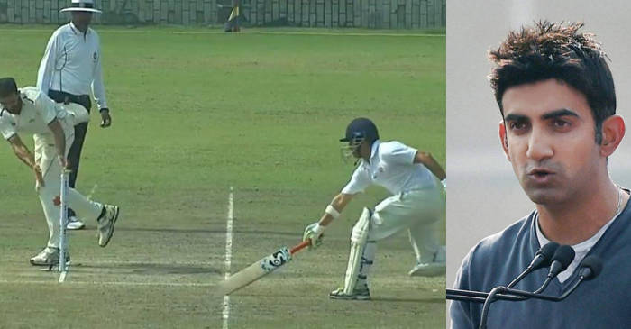 Gautam Gambhir trolls himself after getting run-out hilariously