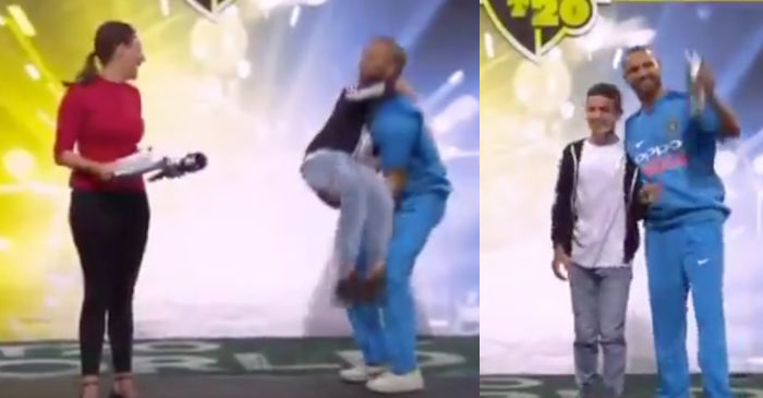 WATCH: Shikhar Dhawan celebrates the Man of the Series award in his unique style