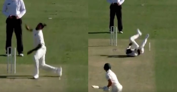 WATCH: Umesh Yadav slips in his delivery stride during the practice match against Cricket Australia XI