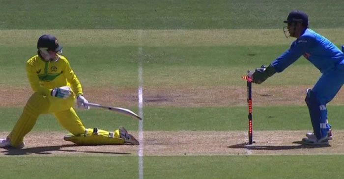 WATCH: MS Dhoni pulls off a lightning-quick stumping to dismiss Peter Handscomb
