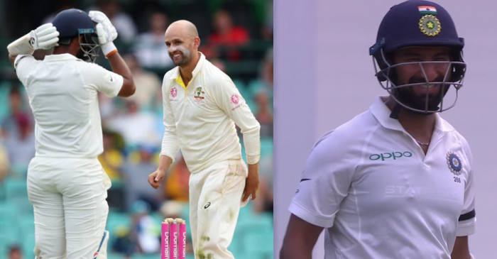 """Aren't you bored yet?"" : Nathan Lyon's cheeky chirp at Cheteshwar Pujara in Sydney Test"