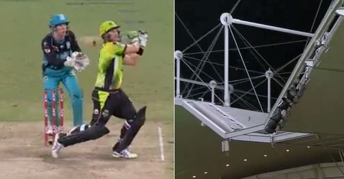 WATCH: Sydney Thunder veteran Shane Watson hits a six out of Spotless Stadium against Brisbane Heat