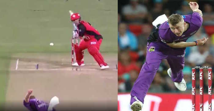 WATCH: Riley Meredith concedes 17 runs off just ONE ball