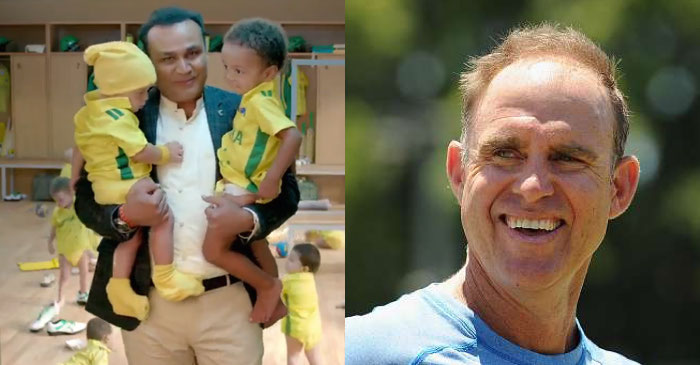 Matthew Hayden gives a humorous reply to Virender Sehwag's babysitting ad