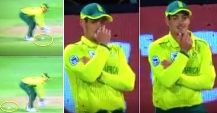 WATCH: Quinton De Kock could not hide his laughter after wicketkeeper David Miller makes a silly error