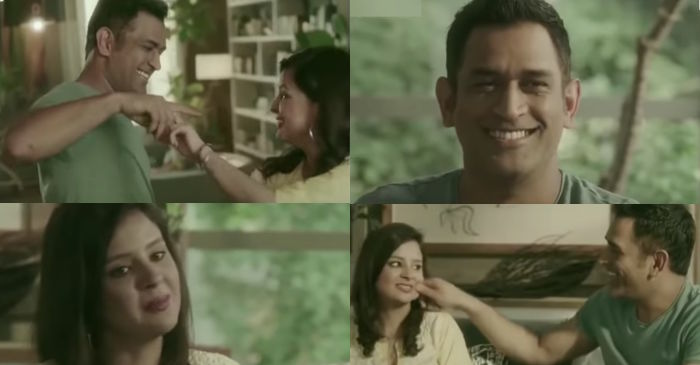WATCH: MS Dhoni dazzles with wife Sakshi in new TV commercial