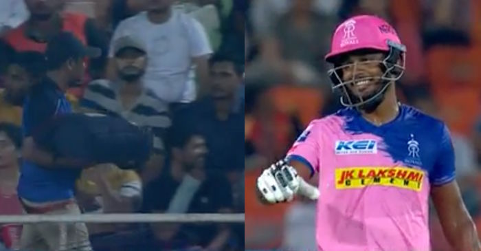 IPL 2019: When pizza delivery boy halted play during the match between SRH and RR – watch video
