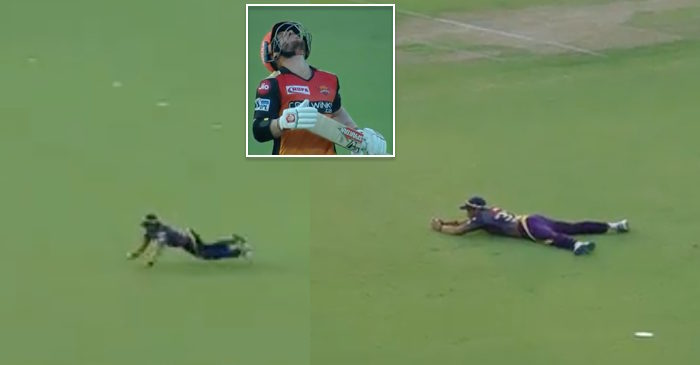 WATCH: Robin Uthappa takes a superb catch to dismiss David Warner in IPL 2019 Match 2