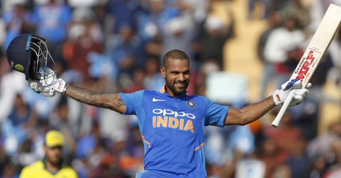 WATCH: Shikhar Dhawan celebrates his 16th ODI century in style
