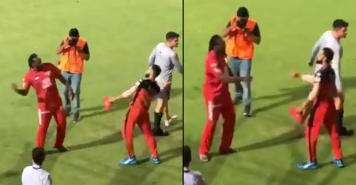 IPL 2019 – WATCH: Chris Gayle, Virat Kohli greet each other with signature move after RCB beat KXIP in Bengaluru