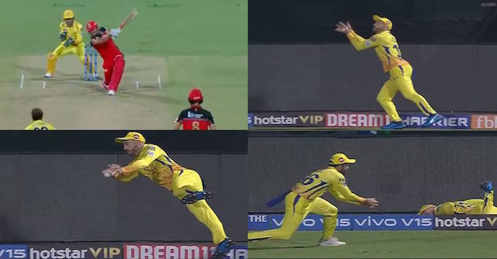 IPL 2019 – WATCH: Faf du Plessis-Dhruv Shorey takes an outstanding relay catch to dismiss Marcus Stoinis (RCB vs CSK)