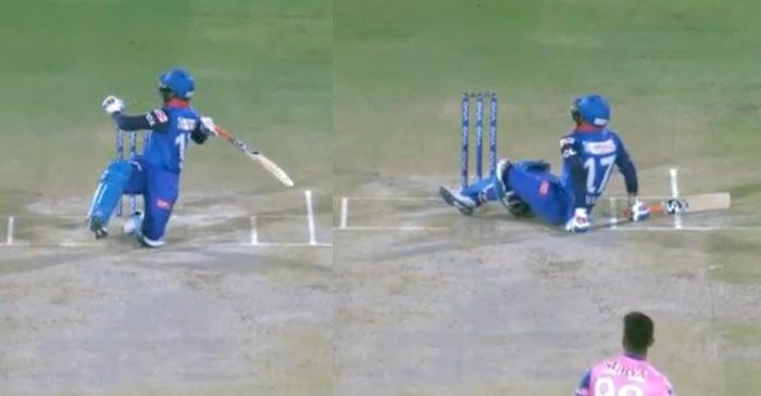 IPL 2019 – WATCH: Rishabh Pant's falling pull shot off Jaydev Unadkat (RR vs DC)