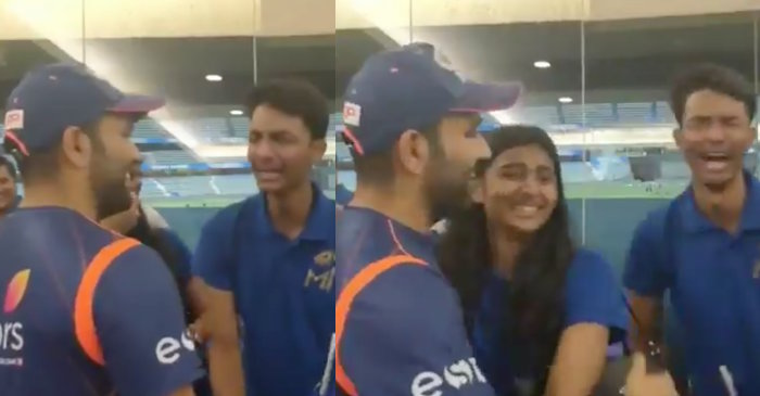 IPL 2019: WATCH – A young fan breaks into tears after meeting MI captain Rohit Sharma