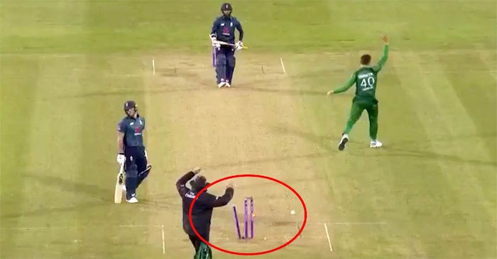 WATCH: Ben Stokes gets run-out in freak fashion against Pakistan
