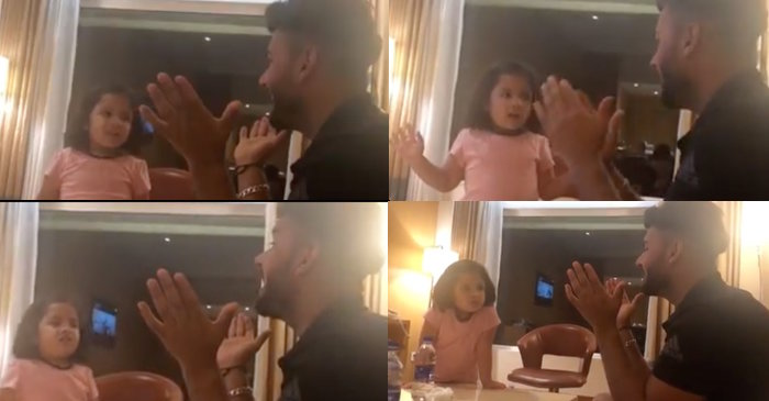 IPL 2019: MS Dhoni's daughter Ziva teaches Rishabh Pant hindi vowels in a viral video