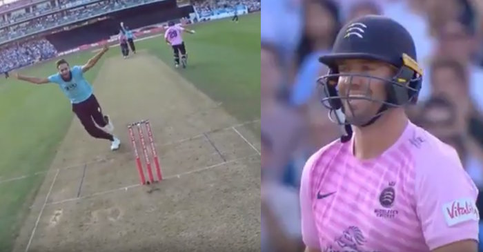 Vitality T20 Blast 2019: Imran Tahir starts celebrating AB de Villiers' wicket even before umpire raises his finger