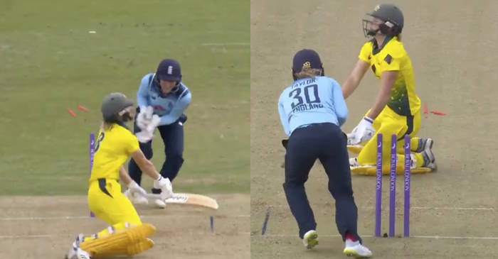Women's Ashes – WATCH: Sarah Taylor produces 'lightning-fast stumping' to dismiss Ellyse Perry