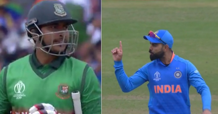 ICC World Cup 2019: Virat Kohli gives a send-off to Soumya Sarkar after DRS confusion sees India losing their review