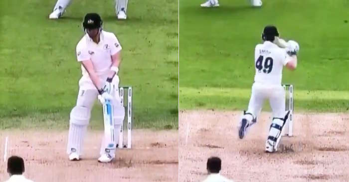 Ashes 2019: WATCH – Steve Smith takes his overly-enthusiastic leaves to another level
