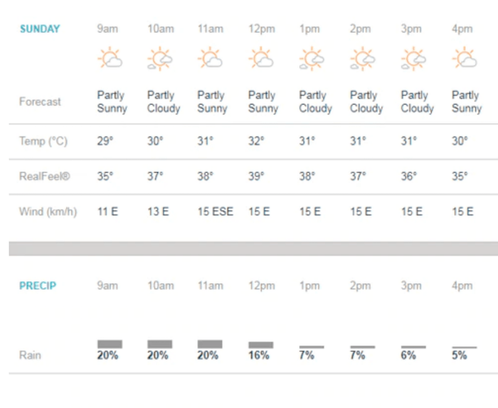 Weather Forecast of Trinidad