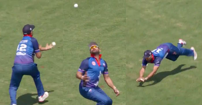 WATCH: Yuvraj Singh takes a stunning catch to dismiss Lendl Simmons in Global T20 Canada