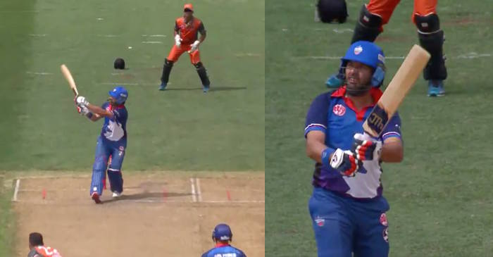 WATCH: Yuvraj Singh hits five big sixes en-route his 22-ball 51 in Global T20 Canada 2019