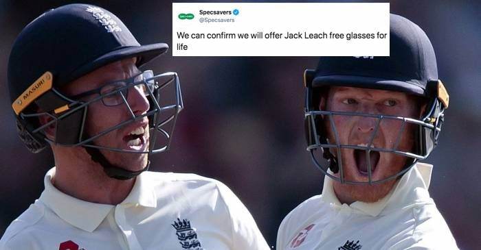 After Ben Stokes' tweet, Specsavers offers Jack Leach free glasses for life