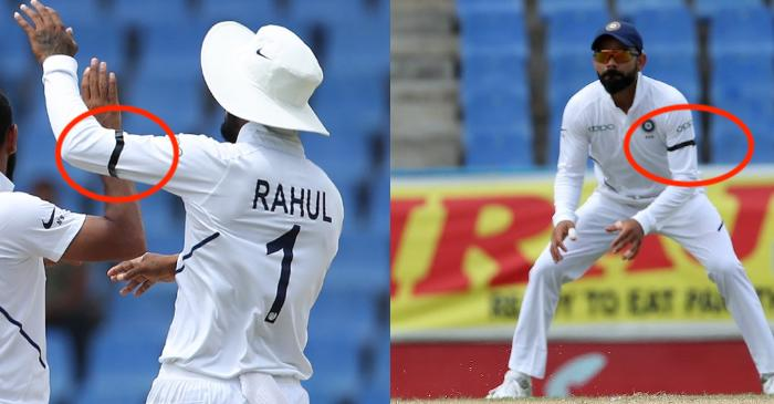 West Indies vs India – 1st Test: Reason why Team India is wearing black arm-bands on Day 3