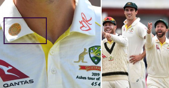 yellow symbol the Australian players have on their shirt collars