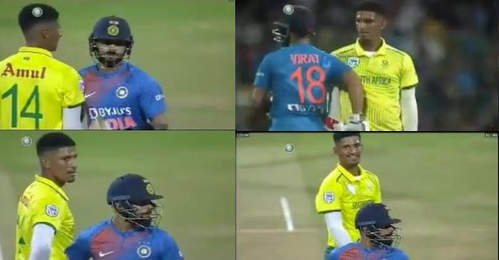 India vs South Africa: Virat Kohli responds to Beuran Hendricks' intimidating stare with a shoulder-nudge