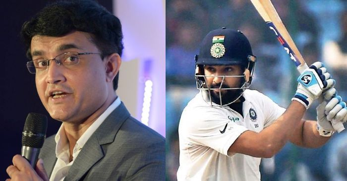 sourav ganguly-rohit sharma
