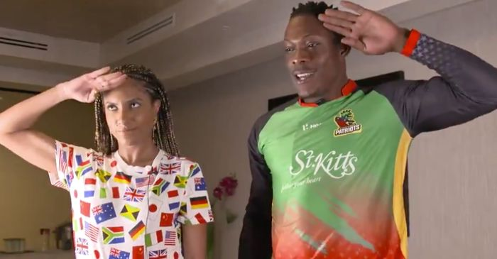 WATCH: Sheldon Cottrell teaches how to Salute in his unique style #CPL 2019